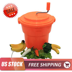 5 Gallon Large Commercial Salad Spinner Vegetable Dryer Free Shipping US STOCK