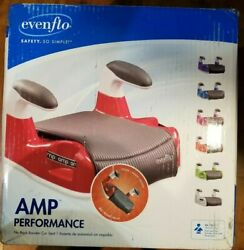 Evenflo AMP Performance Booster Car SeatSafety Big Kid Child Seat Red $22.99