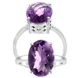 Natural Brazil Amethyst 925 Sterling Silver Ring Jewelry Size 6-9 DGR6006_A