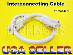 Interconnecting Cable 8 INCH 1 2 3 4 6 10 FT LED T8 Tube Light Connector  $6.99