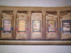 CAFE PACKAGES OF COFFEE KITCHEN PREPASTED WALLPAPER BORDER # 687651 $15.99