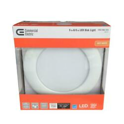 Lot Of 6 Commercial Electric 5 in. and 6 in. White Recessed LED Disk Light