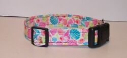 Wet Nose Designs Colorful By The Sea Bright Seashells Dog Collar Beach Nautical $6.99