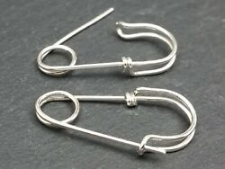 Regular Size Sterling Silver Safety Pin Earrings