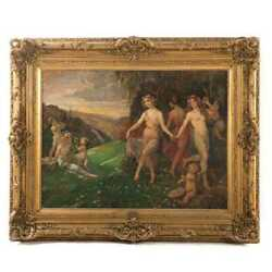 Primavera oil on canvas by german 19th century artist  Carl Rohling