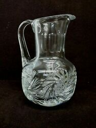 Contemporary Crystal Cut Etched Glass Pitcher $36.95