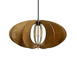 Wood chandelier Kitchen pendant lighting Dining room light fixture Plywood lamp $131.99