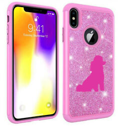 For Apple iPhone Glitter Bling Shockproof Case Cover Miniature Poodle Toy Poodle $14.99