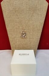 Effy 14Kt Rose Gold Diamond and Emerald Panther Pendant 1.75 TCW 14Kt Necklace