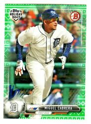 2017 Topps Bowman Holiday GREEN SWEATER #TH-MCA MIGUEL CABRERA 1499 Tigers $8.95