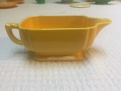 Homer Laughlin Riviera Yellow Sauce Gravy Boat $19.99