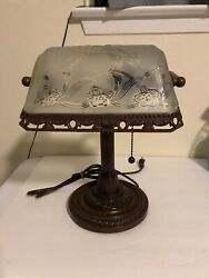 Reproduction of Antique Student Lamp or side table lamp Brown $32.89