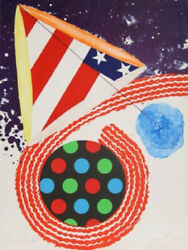 James Rosenquist A Free for All Color lithograph and collage  paper by the art