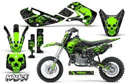 Decal Graphic Kit Wrap For Kawasaki KLX 110 2002-2009 KX 65 2002-2018 MALICE GRN