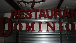 COMMERCIAL RESTAURANT DOMINION LIGHT SIGN $2,800.00