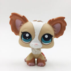 Pet Shop LPS Animals Loose Toys #1082 Tan Chihuahua Puppy Dog Pink Ears $4.99
