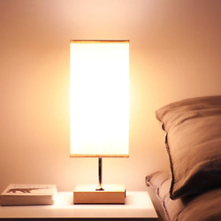 Bedside USB Table Lamps for Bedroom USB Charging Port Wood Nightstand Lamp for $39.53