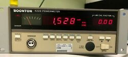 Boonton 4220 RF Power Meter with Options 01 amp; 02 $145.00