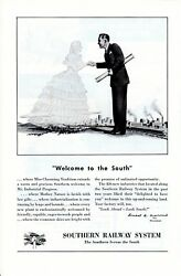 Vintage print ad Train 1950s Southern Railway System Ghost Belle Welcome to the $9.95