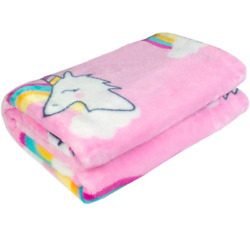 Ghome Soft Baby Blanket and Unicorn Fuzzy BlanketMade of 300GSM Flannel or Bed