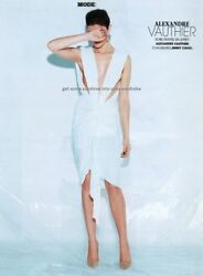 Alexandre Vauthier Cutout Plunging White Dress Fr. 38