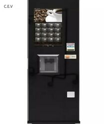 Hot and Cold Coffee Powder Vending Machine with Bill Acceptor and Coin Acceptor