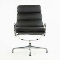 Vintage Eames Herman Miller Soft Pad Aluminum Group Lounge Chair Black