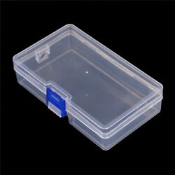Plastic Clear Parts Storage Box Jewelry Craft Container Organizer Case TCNH