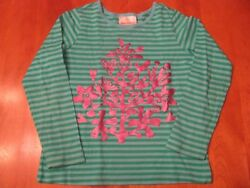 Girls HANNA ANDERSSON Pink Green Top 110 Size 4 5 6 Year