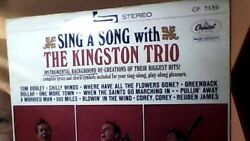 SING A SONG WITH THE KINGSTON TRIO CAPITOL CP 7139 JAPAN RED VINYL LP