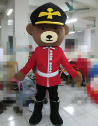Uniform Teddy Bear Mascot Costume Outfit Animal Adult Cosplay Party Dress Animal