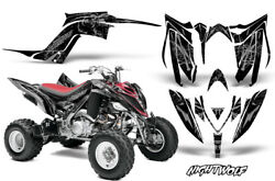 Decal Graphic Kit Quad Sticker Wrap For Yamaha Raptor 700R 2013-2018 NIGHTWOLF S