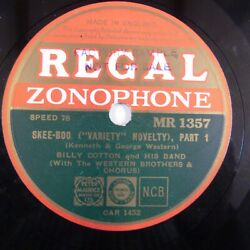 78rpm BILLY COTTON skee boo part 1 2 variety novelty REGAL MR 1357 GBP 20.00