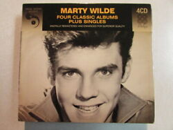 MARTY WILDE FOUR CLASSIC ALBUMS PLUS SINGLES 4CD DIGIPAK PRE-OWNED 83 SONGS VG