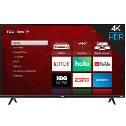 TCL 50S425 50 Inch Roku 4K Ultra HD LED Wi Fi Smart TV 2019 with Remote $279.99