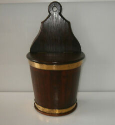 Beautiful Antique French Coopered Salt Box Caddy c1840-60