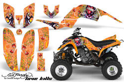 ATV Decal Graphic Kit Quad Sticker Wrap For Yamaha Raptor 660 2001-2005 EDHLK O