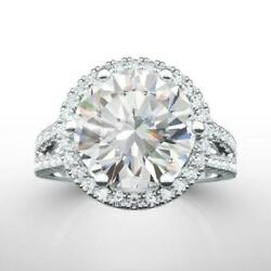 14 KT WHITE GOLD REAL DIAMOND RING HALO 3.8 CARATS LADIES APPRAISED ESTATE