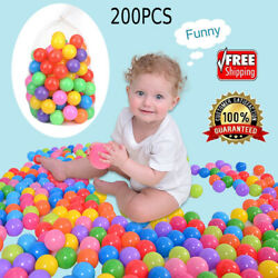 200PCS Ocean Ball Baby Kid Pit Toy Game Swim Fun Pool Ball Colorful 5.5cm Soft