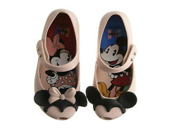 NIB Mini Melissa Mini Ultragirl Disney Mickey and Minnie Mouse Shoes Size 5 $65 $28.00