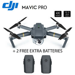 DJI Mavic Pro 4K FPV Foldable RC Drone Quadcopter Fly with Two Extra Batter D1L7