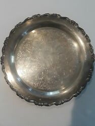 ONEIDA SILVER PLATE Butler WAITER SERVING TRAY ONEIDA OL USA ANTIQUE