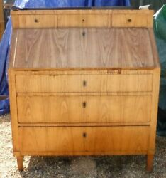 RARE PROBABLY GERMAN CONTINENTAL  HANDMADE SPECIAL WOOD  antique bureau art deco