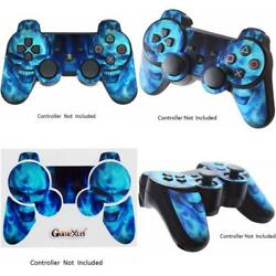 Blue Playstation 3 Ps3 Wireless Game Controller Skin Decal Vinyl Leather Texture