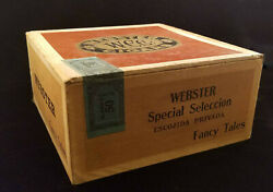 Vintage W.C.Co. WEBSTER CIGAR CO. BOX - Special Selection - Fancy Tales -Class G