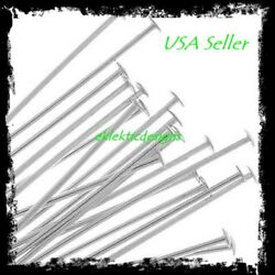 30mm 50pcs .7mm 304 Surgical Stainless Steel Headpins Flat Head Pins Findings $3.28