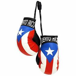 MINI BOXING GLOVES PUERTO RICO FLAG HANGING FOR CARS amp; TRUCKS $7.95