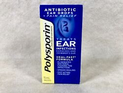 Polysporin Antibiotic Ear Drops. Treats ear infections Fast! Ships fast from USA
