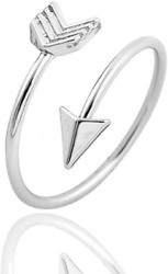 Arrow Ring Silver Adjustable Open Ring 925 Jewelry Sterling Fashion