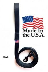 Dog Leash Lead Long Obedience Recall Training BLACK Multiple Lengths USA MADE $9.99